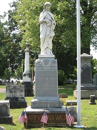 Evergreen Cemetery (Adams County, Pennsylvania) - Image: Wade monument