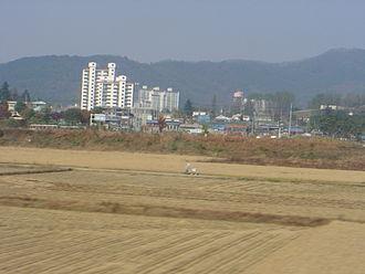 Waegwan - Image: Waegwan fields