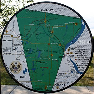 Lake Traverse Indian Reservation - A map of the Wahpeton-Sisseton Reservation.