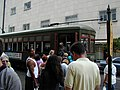Waiting for the Streetcar New Orleans Carondelet at Canal May 2001.jpg