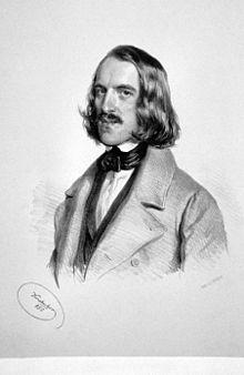 Walther Wolfgang von Goethe, Lithographie von Josef Kriehuber, 1850 (Quelle: Wikimedia)