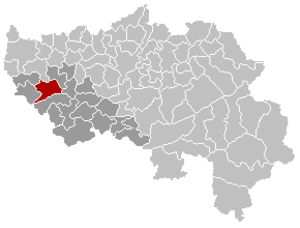 Wanze - Image: Wanze Liège Belgium Map