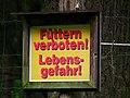 Warnschild Elchgehege Wildpark Alte Fasanerie Klein-Auheim Juni 2012.JPG