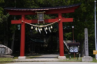 Shinto shrine in Niigata Prefecture, Japan