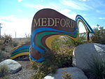 Welcome to Medford entrance sign