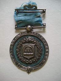 Wenlock Olympian Society Silver Medal (obverse) awarded to John Hulley
