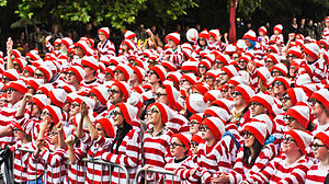 Where's Wally? - Attendees at the 2011 Where's Wally? World Record event in Dublin, Ireland