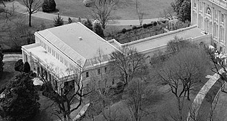 East Wing - The East Wing of the White House in 1992
