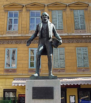 Johann Nestroy - Statue of Nestroy, near Nestroyplatz