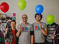 Wikidata Birthday Balloon performance.jpg