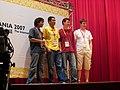 Wikimania2007 four friends.jpg