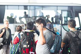 Wikimania 2016 - Arrival at Malpensa 12.jpg