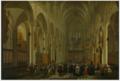 Wilhelm Schubert von Ehrenberg and Hieronymus Janssens - Group of people in the St. Rumbold's Church in Mechelen.tiff