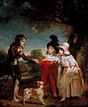 William Beechey - Portrait of Sir Francis Ford's Children Giving a Coin to a Beggar Boy.jpg