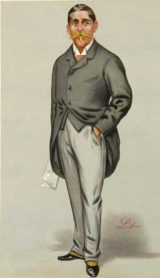 "Sir Cuthbert Quilter, 1st Baronet - ""in Society and a Member of Parliament"" Quilter as caricatured by Liborio Prosperi in Vanity Fair, February 1889"