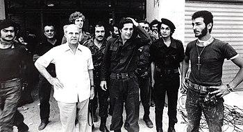 English: William Hawi with Amine Gemayel at Te...