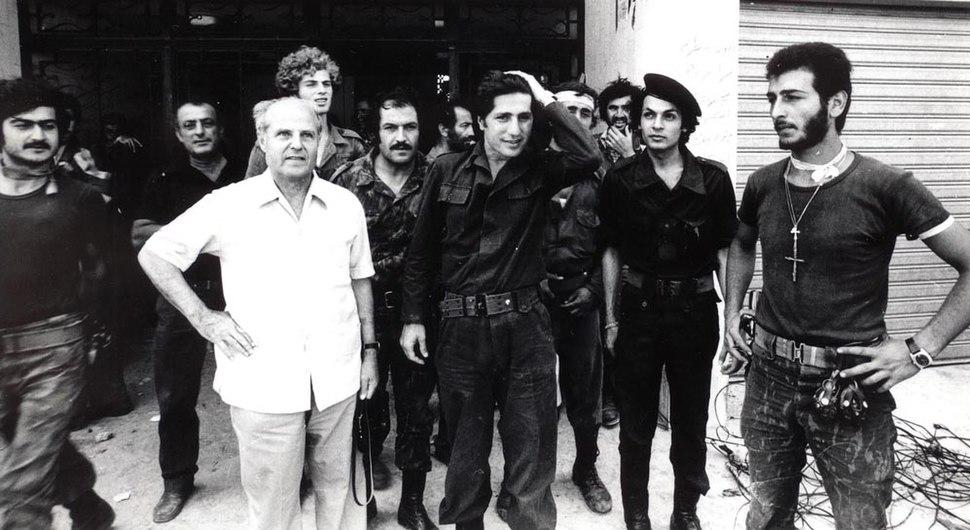 William Hawi with Amine Gemayel at Tel al-Zaatar