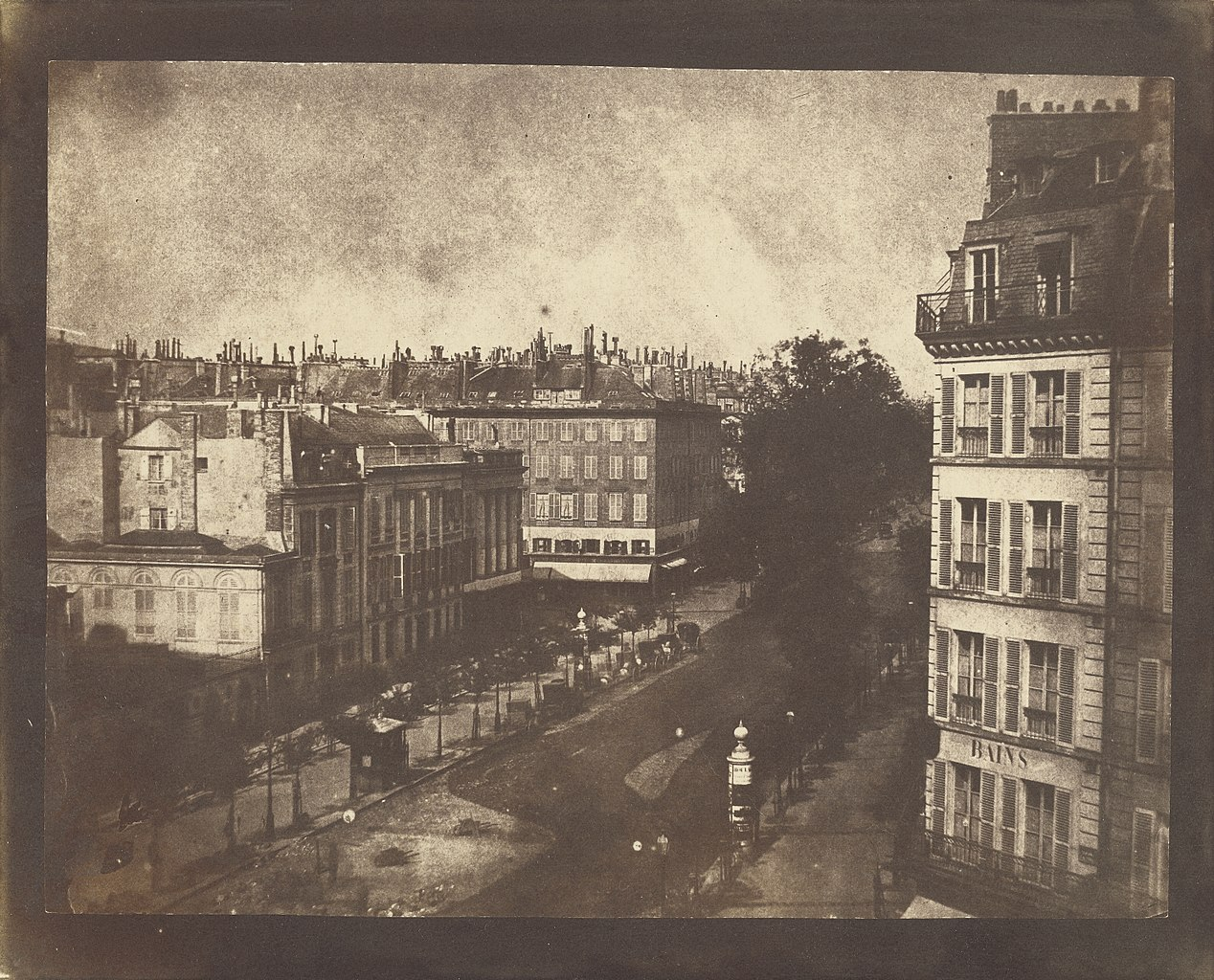 What Fox Talbot Could Have Done With >> File William Henry Fox Talbot View Of The Boulevards Of Paris 1843