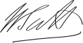 William Pitt the Younger Signature.svg
