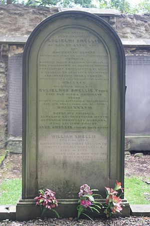 William Smellie (encyclopedist) - William Smellie's grave, Greyfriars Kirkyard