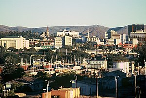 A picture of the skyline of Windhoek, Namibia....