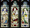 Window, Chester Cathedral detail of east window Heaton Butler & Bayne.JPG