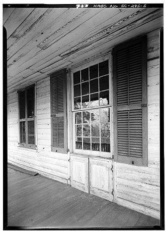 Pendleton, South Carolina - Detail of window with hinged panels, Woodburn Plantation