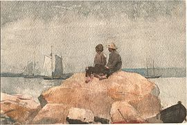 Winslow Homer - Two boys watching schooners.jpg