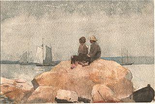 Two Boys Watching Schooners