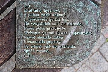 ławeczka Wisławy Szymborskiej W Kórniku Wikiwand
