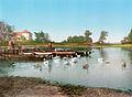 Woerlitzer See Eichenkranz und Gondelplatz Woerlitzer Park 1900.jpg