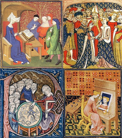 Royal women's activities in the Middle Ages Women activities in middle ages.JPG