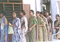 Women voters lining up in a queue outside a polling Station of Mangalore Parliamentary Constituency of Karnataka during General Elections 2004 on April 26, 2004.jpg