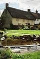 Wool, stream in front of thatched cottage - geograph.org.uk - 540093.jpg