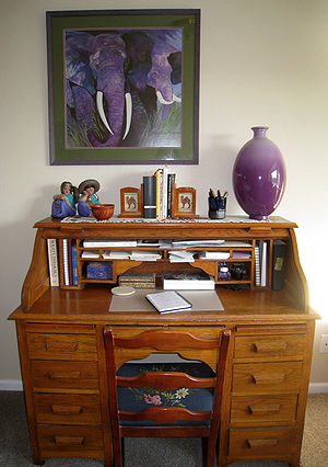 Desk - A writing desk in a home.