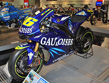 La Yamaha YZR-M1 con cui Rossi ha vinto nel 2004 il titolo della MotoGP