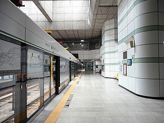 Yangcheon-gu Office station - Image: Yangcheon gu Office Stn. Platform