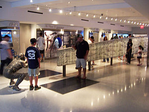 "New York Yankees Museum - The centerpiece of the New York Yankees Museum is the ""Ball Wall"", a collection of autographs of current and former Yankees players."