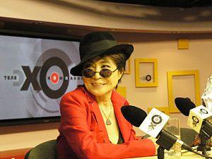 Yoko Ono - Yoko Ono at a conference, 2007