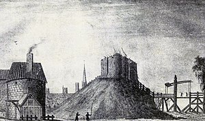 Francis Place (artist) - York Castle (1644, engraving by William Henry Toms)