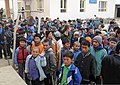 Young Afghan boys stand outside of the Aliabad School near Mazar-e-Sharif, Balkh province, Afghanistan, March 10, 2012 120310-A-LE308-006.jpg