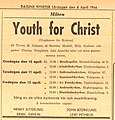 Youth for Christ advertisement in Stockholm 1946.jpg