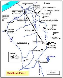 carte de la région des combats