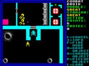 A screenshot from Rebelstar, a well known Spectrum game