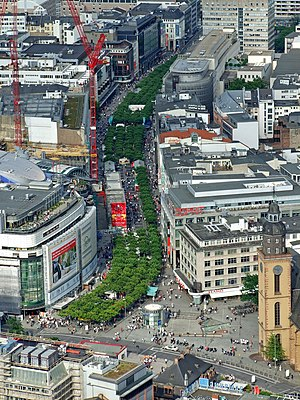 Innenstadt (Frankfurt am Main) - End of Zeil at Hauptwache