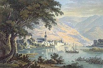 Zell (Mosel) - Image: Zell an der Mosel 1841 von Karl Bodmer