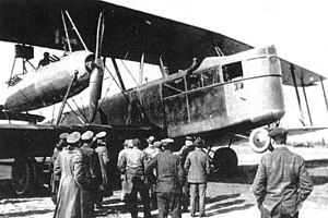 Zeppelin-Staaken R.XIV - First version with four Austro-Daimler engines.