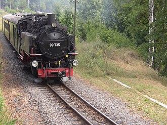 Zittau Mountains - Narrow gauge railway near Oybin Niederdorf