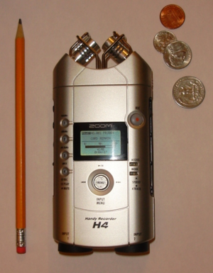 Zoom H4 Handy Recorder - The H4 is shorter than a pencil