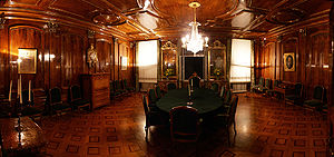 Panelling - Elaborate boiseries in the guild hall of the Zunfthaus zu Kaufleuten, Kramgasse 29, Bern